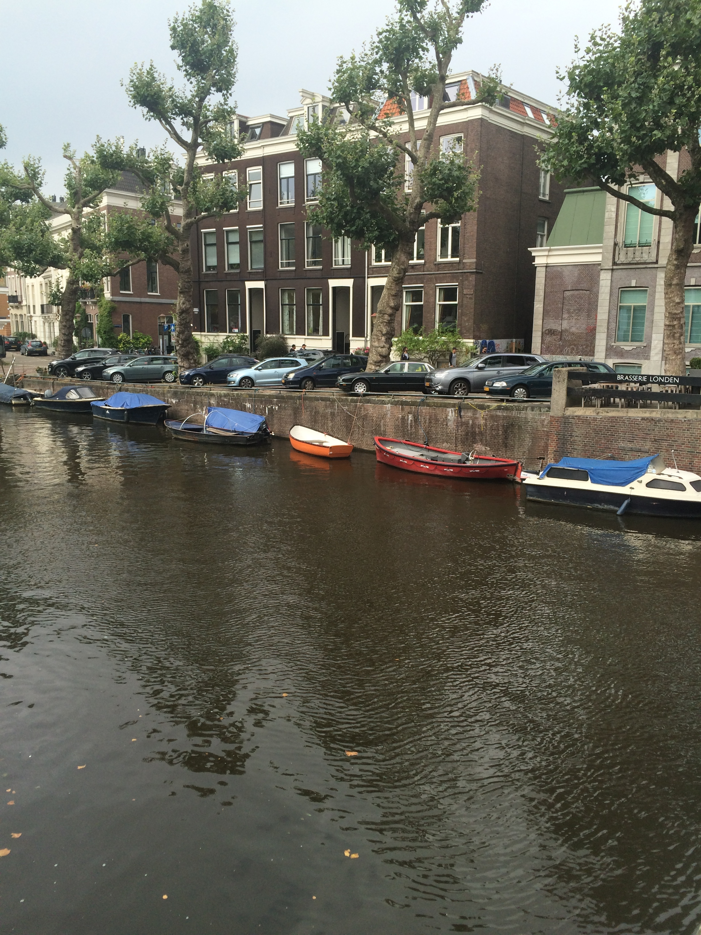 These are the river boats I mentioned that are going along with the flow of traffic on the streets above.