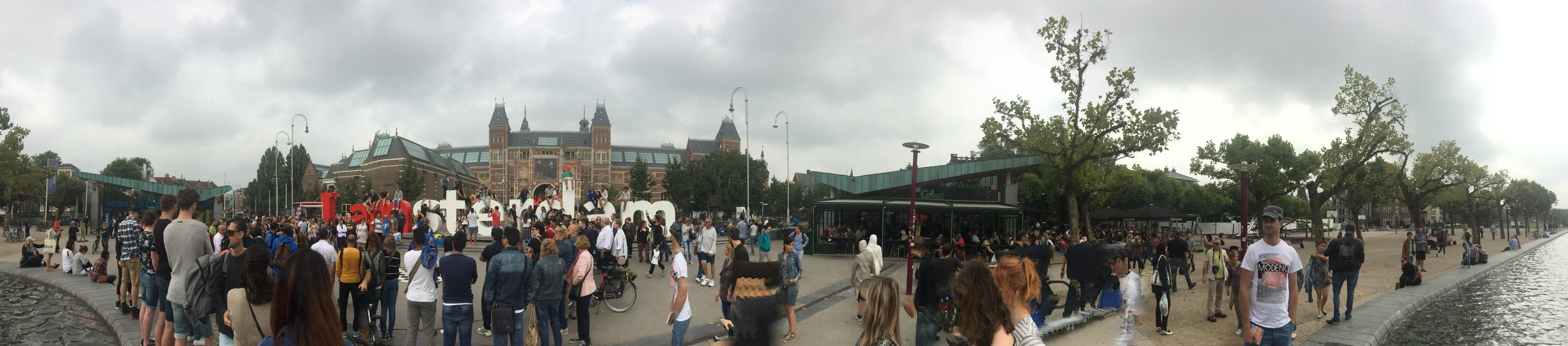 """A panoramic view of the """"Iamsterdam"""" thingy."""