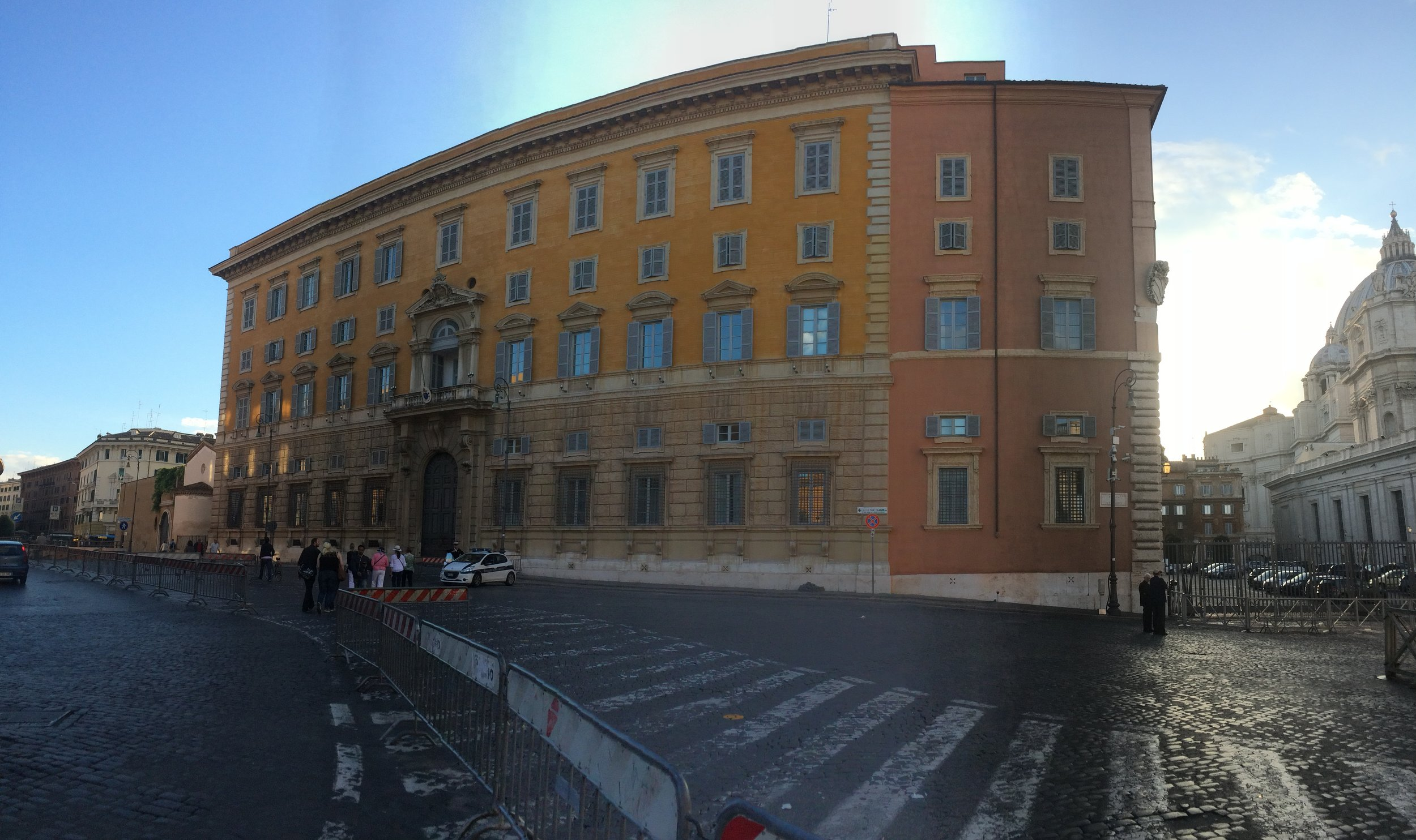 Just outside St. Peter's square. I just liked this building.