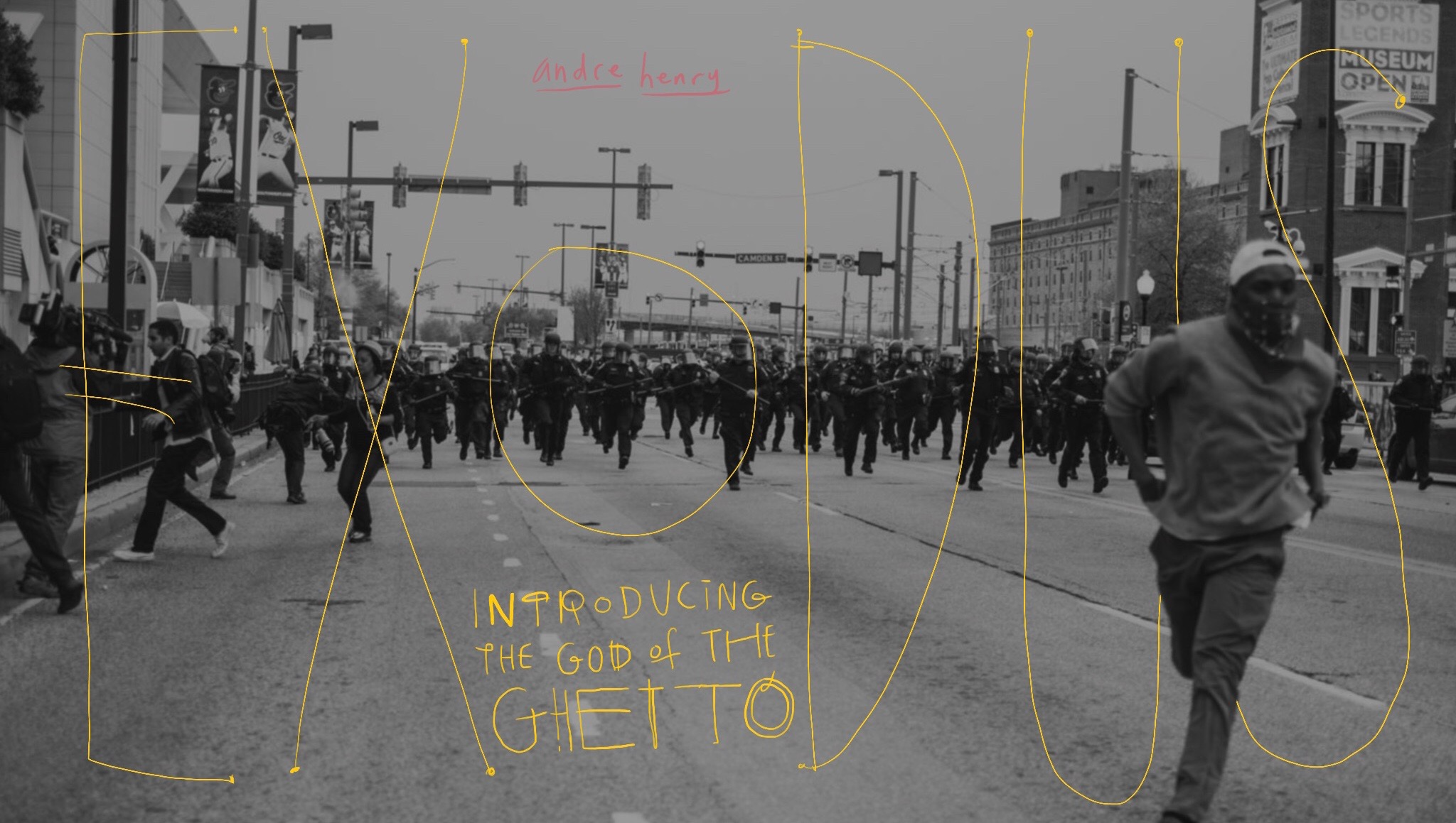 Photographer Devin Allen's photo from the Freddie Gray protests in Baltimore on April 25,2015