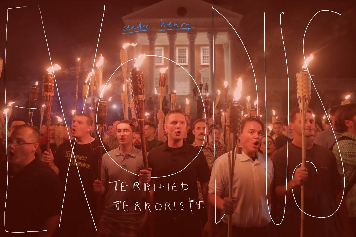 White nationalists surround a Charlottesville church near University of Virginia