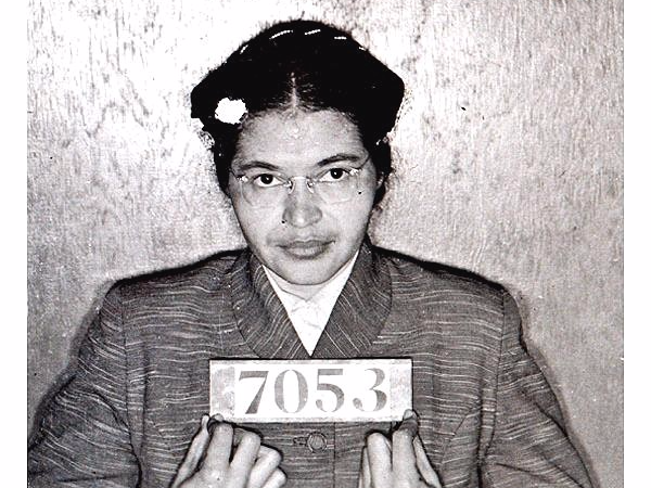 Rosa Parks Mugshot After Being Arrested for Refusing to Take a Seat in the Back of a City Bus.