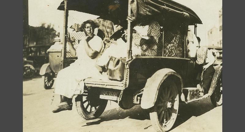 Black people taken prisoner during the raid on Greenwood.