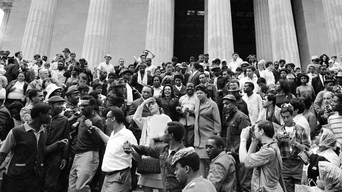 Coretta Scott King and other activists occupying Washington D.C. as they demand economic justice during the 1968 Poor People's Campaign