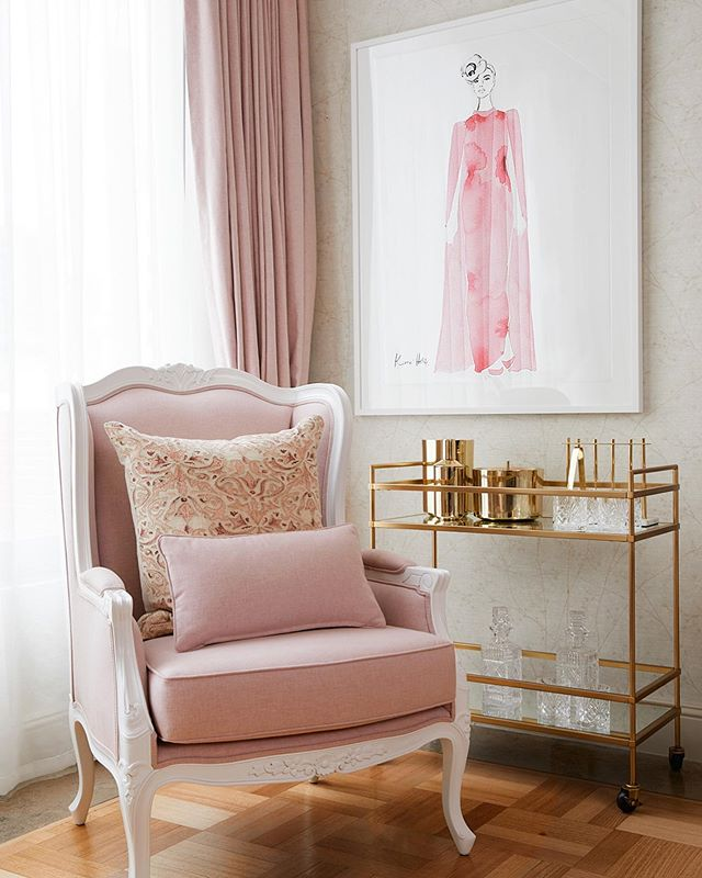 Pinch me moment!  After months of behind the scenes planning, last night we launched one of my favourite projects to date- The Residence By Kerrie Hess @langhammelbourne  Working closely with @kerriehessillustration to redesign an exisiting suite has been a dream! From custom made curtains and matching custom furniture to collaborating with some of my favourite brands, I am so thrilled to share this passion project with everyone! Stay tuned for more 💕