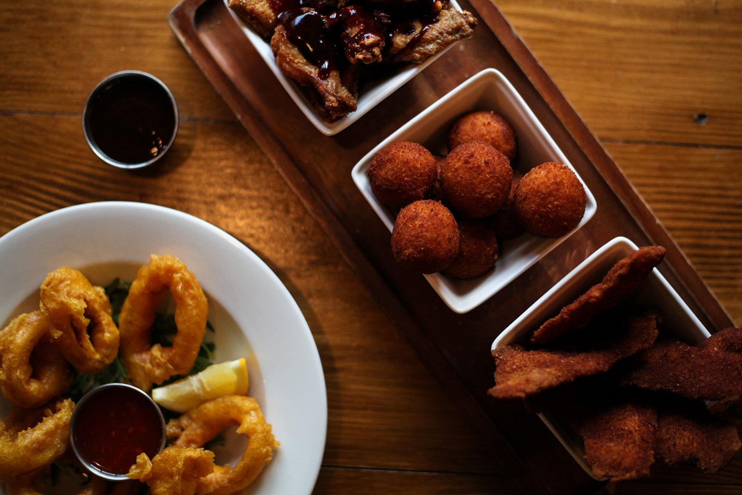 Fried Onion Rings and Croquetas at The Cowley Retreat