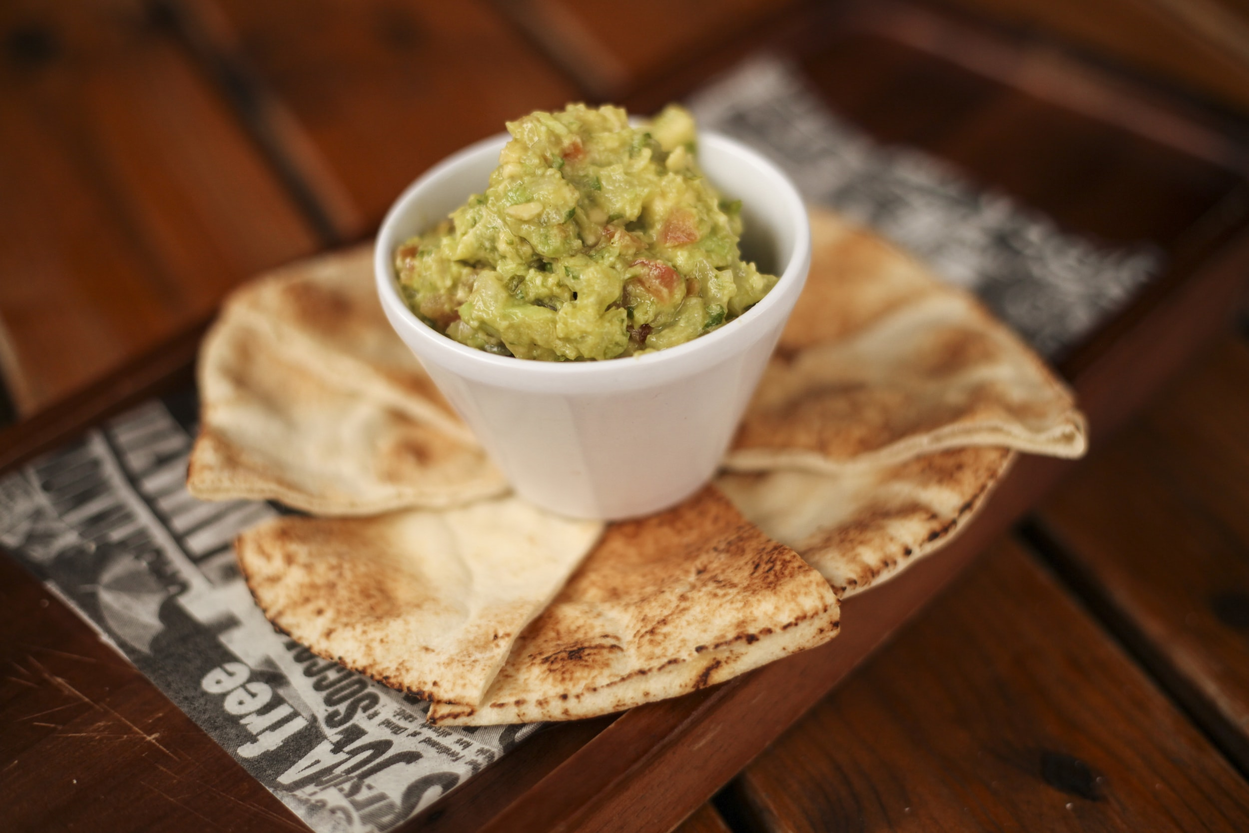 Guacamole and Pitta at The Cowley Retreat