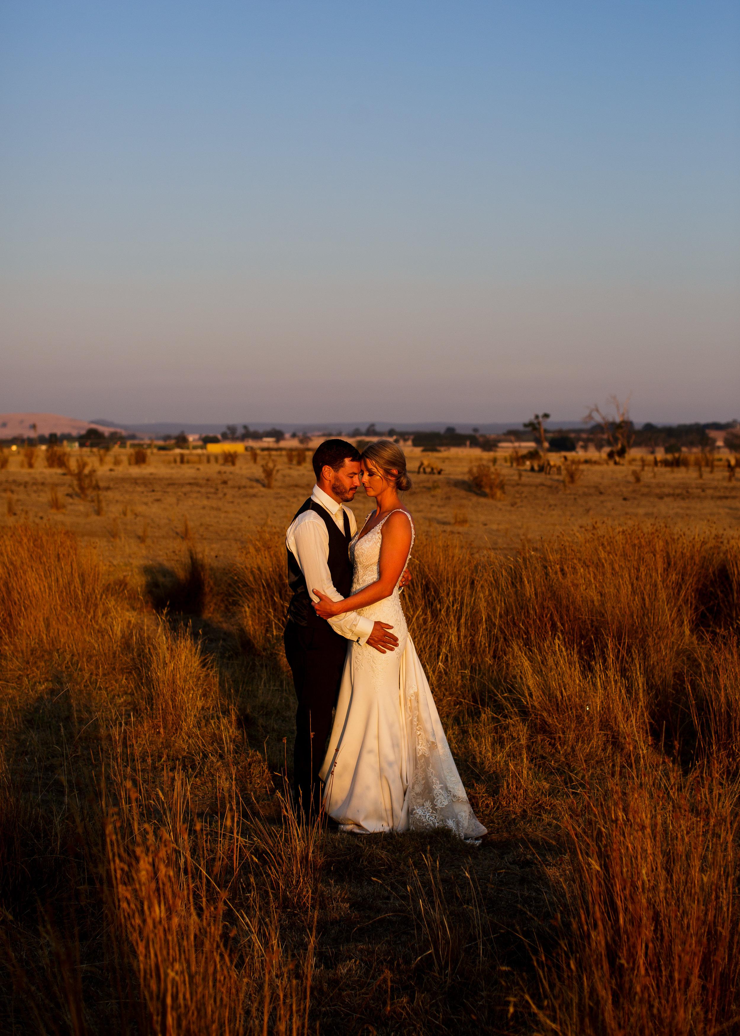 Ballarat sunset wedding portraits