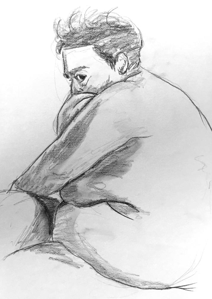 Sesión de dibujo con modelo
