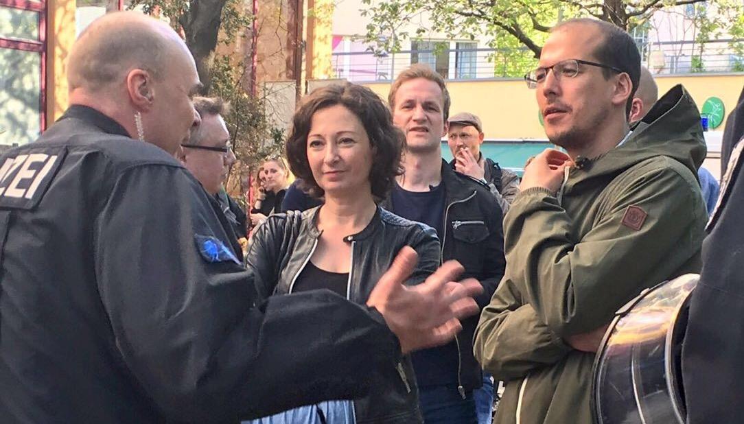 1. Mai 2016 - im Gespräch mit Einsatzleiter und Ramona Pop C: Benedikt Lux