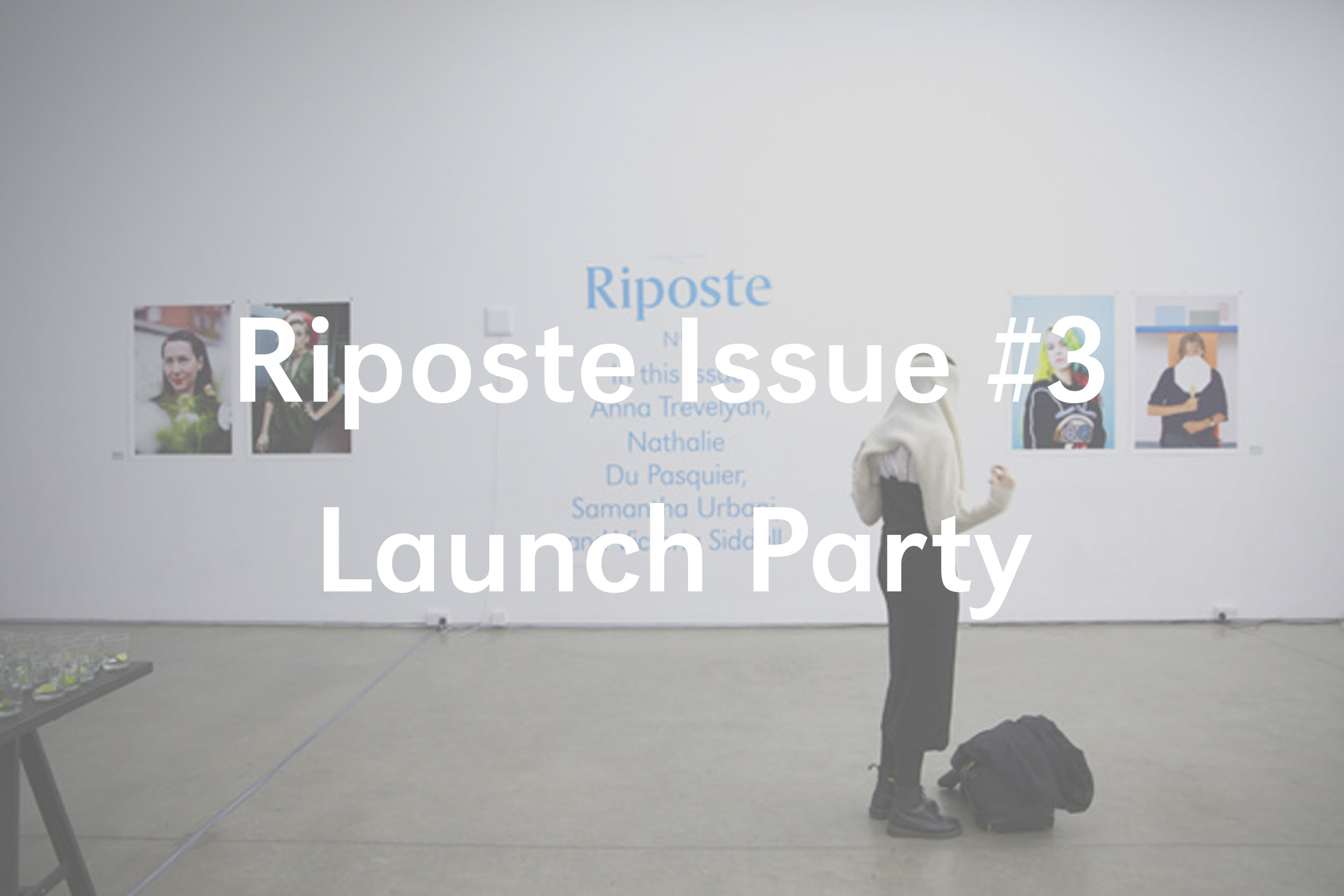 Riposte Issue #3 Launch