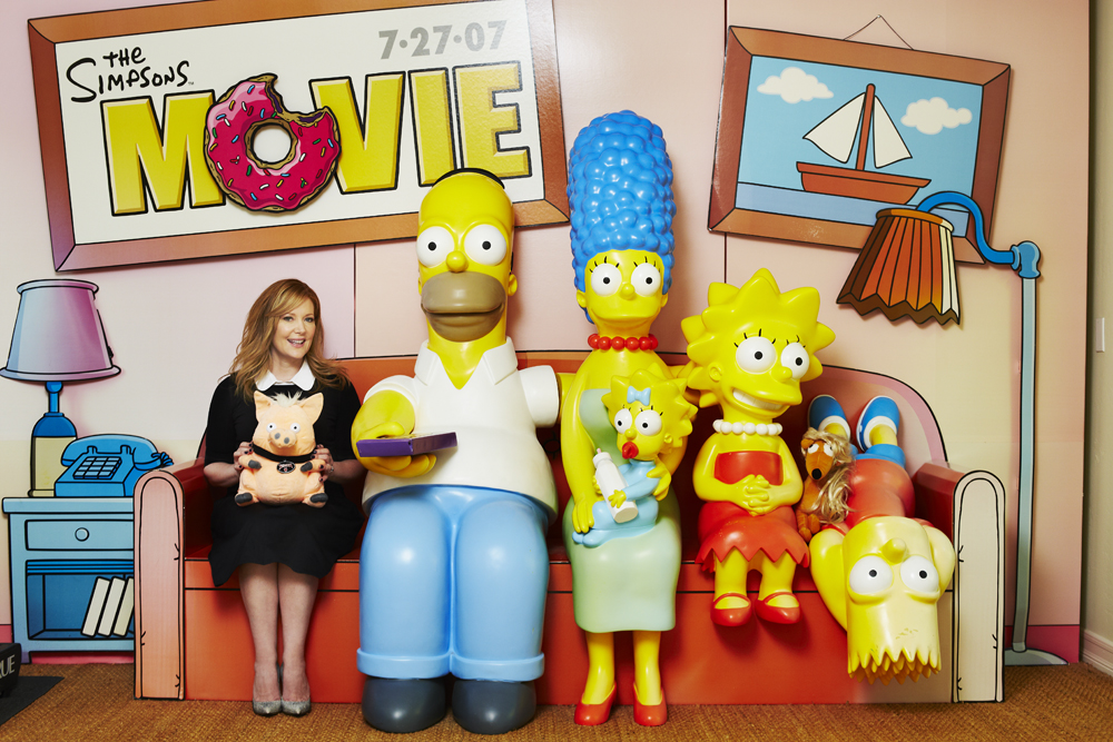Stephanie saved this set from The Simpsons Movie press launch - who wouldn't?! It now lives in her house.