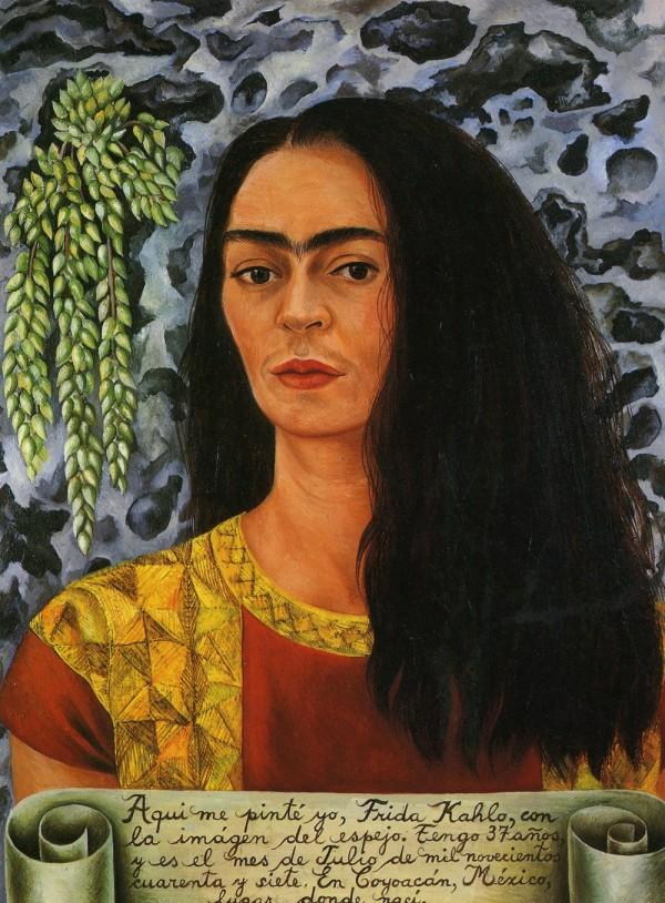 Autorretrato con el pelo suelto, 1947