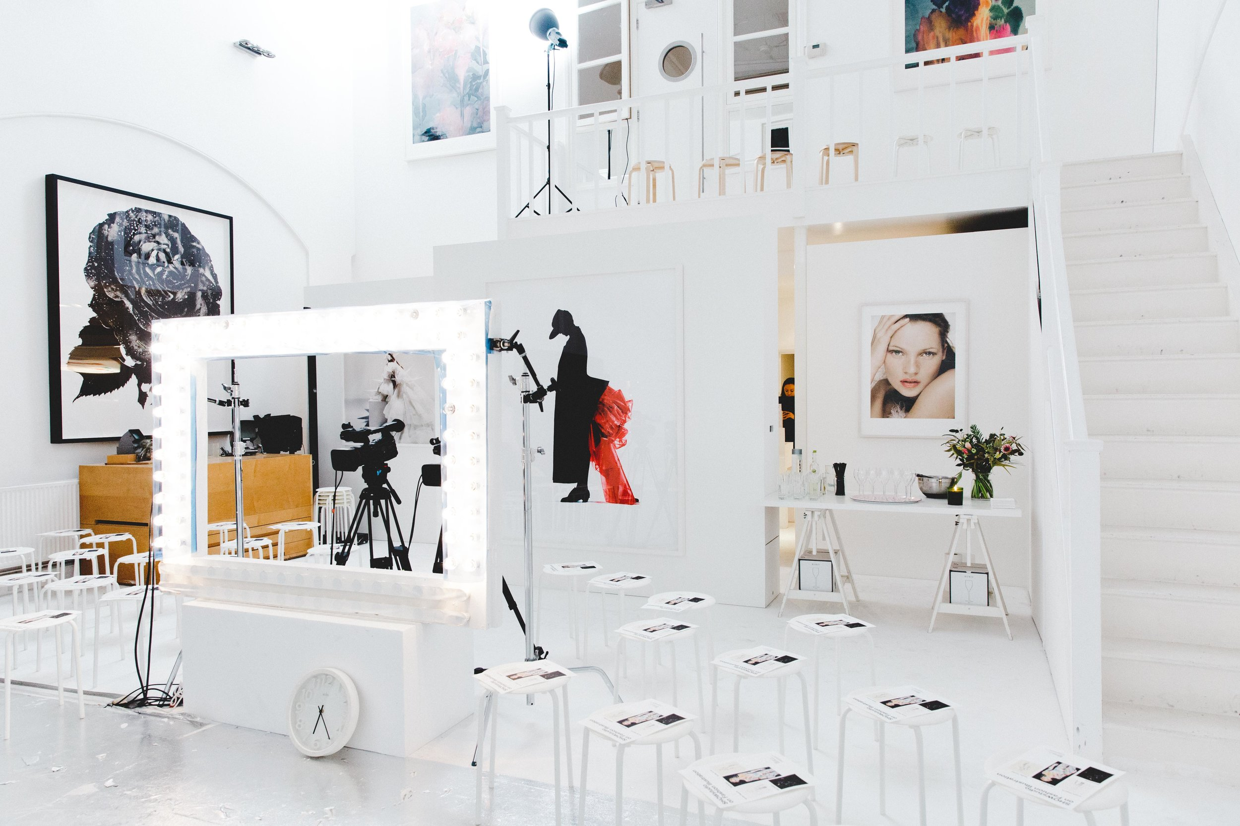 Panel discussion on fashion illustration hosted by Nick Knight in his studio. Photography by Dunja Opalko.