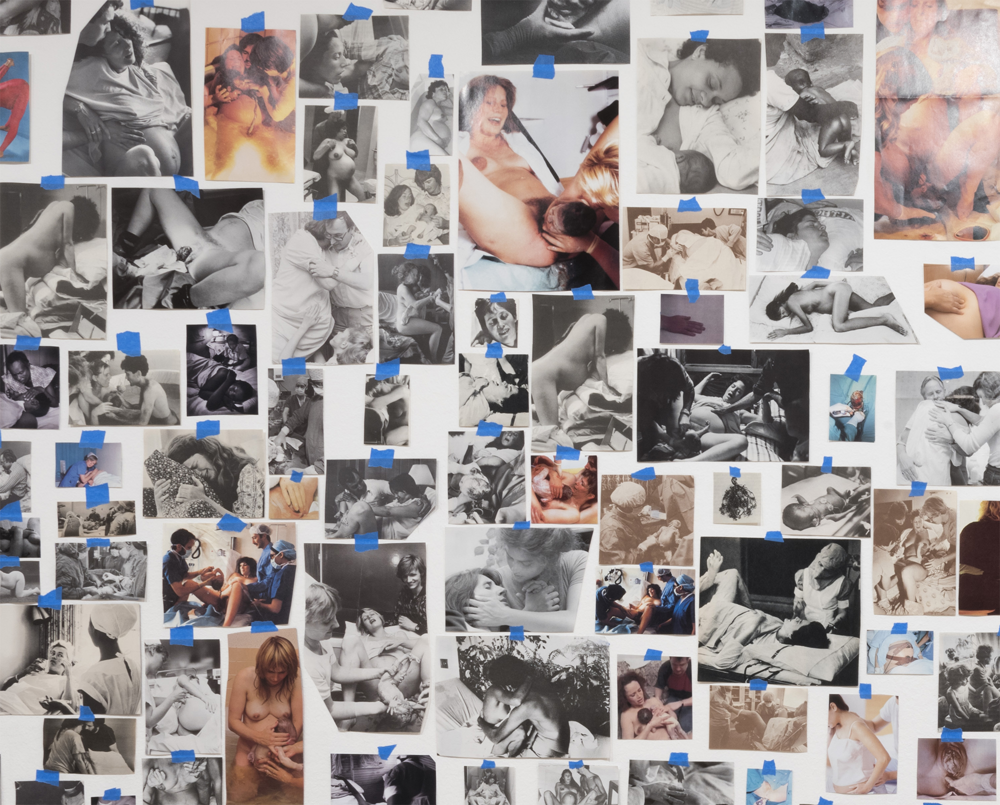 Detail from Carmen Winant,  My Birth  , 2018.