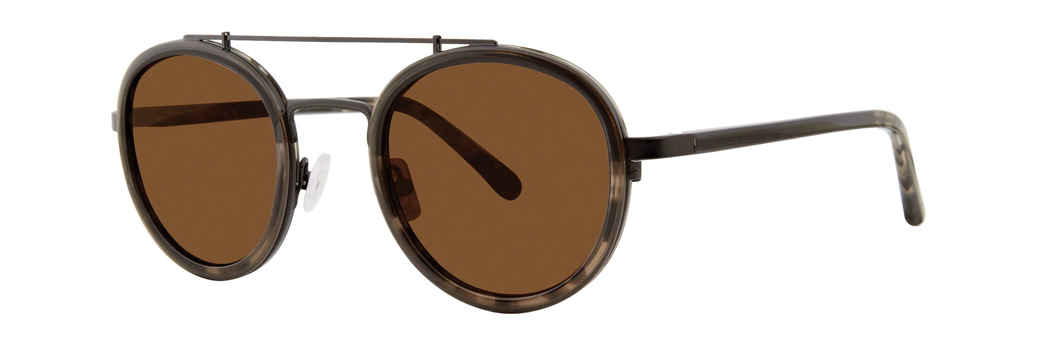 Zac Posen 'Kane' // round combination style featuring a top bar and metal temples