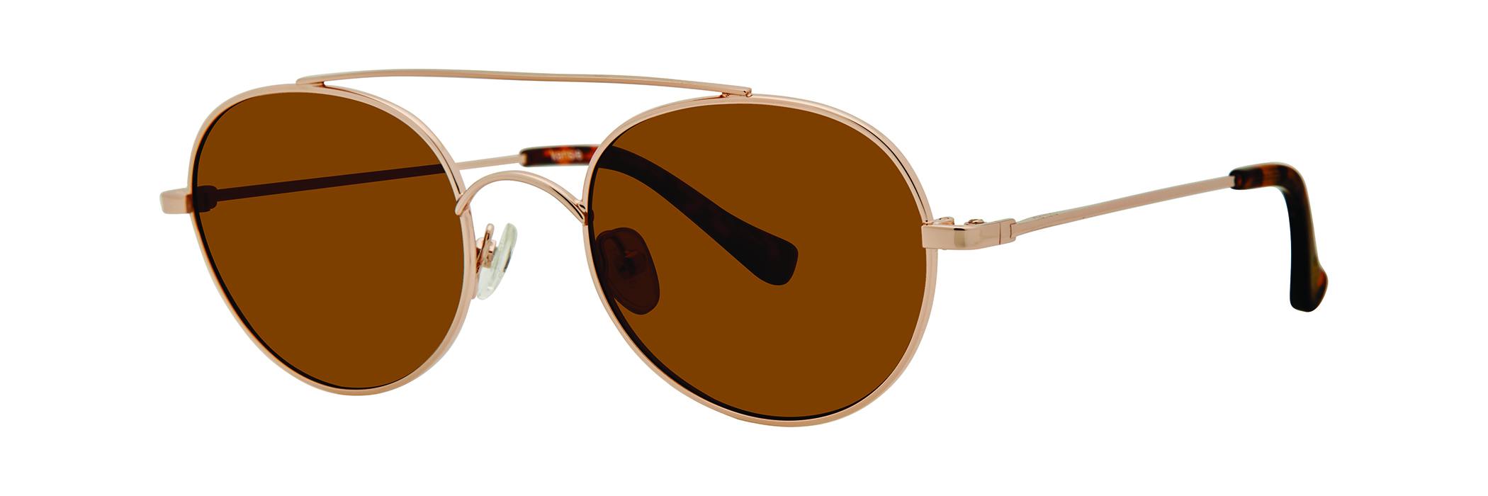 kensie 'inside out' // the hippest round metal style featuring a top bar and mirrored lenses