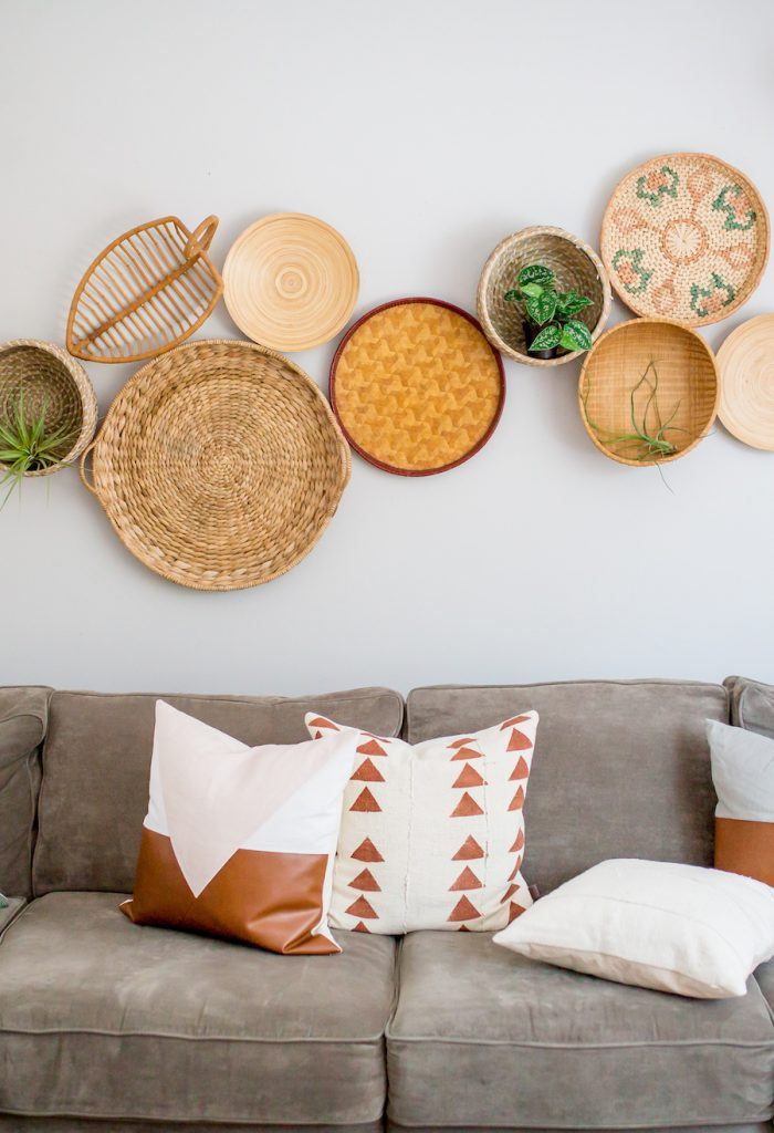 Baskets - Baskets are a classic and perfect décor item for storing just about anything! Not only can they be used as storage, but you can switch it up and use them for much more! Use them as wall art or even as a planter for indoor plants!