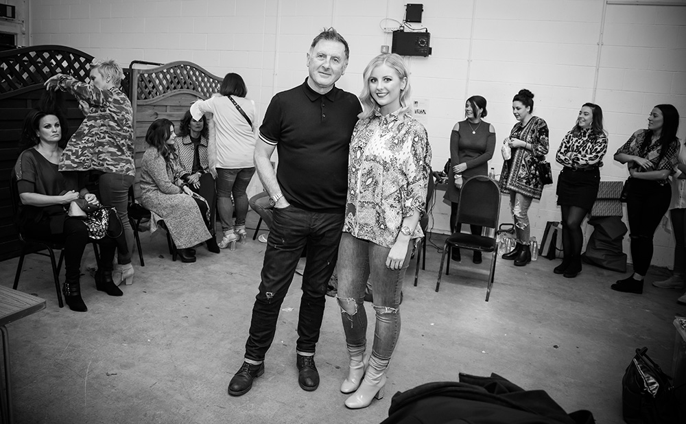 Paul Reardon with daughter Niamh at Macmillan charity fashion event