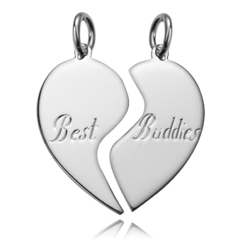 Sterling Silver Broken Heart Dog Tag