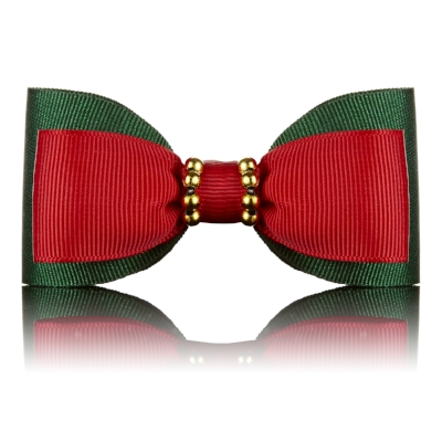 Green & Red Dog Bow Tie