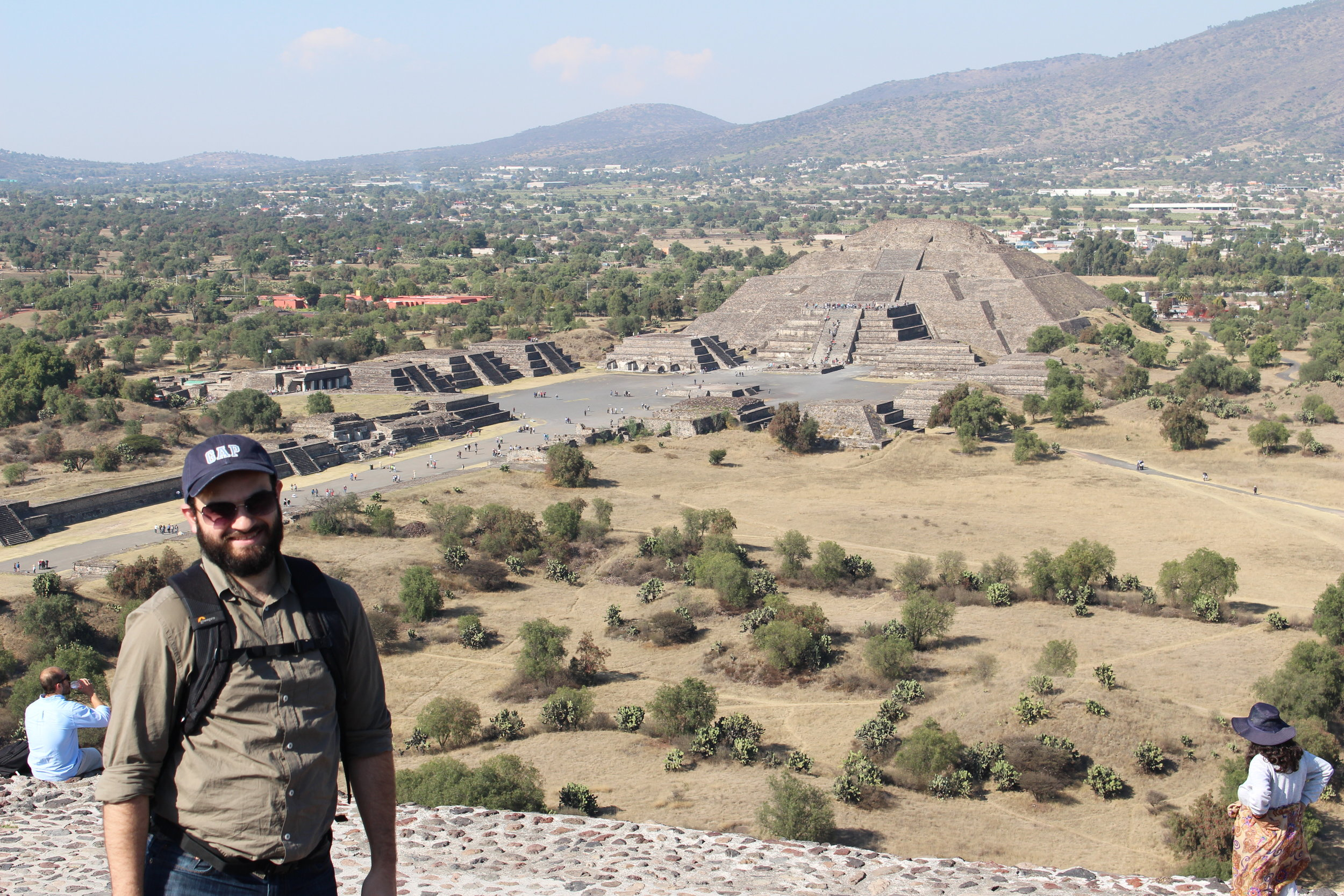 Pyramid of the Moon, as seen from the Pyramid of the Sun, Teotihuacan, Mexico