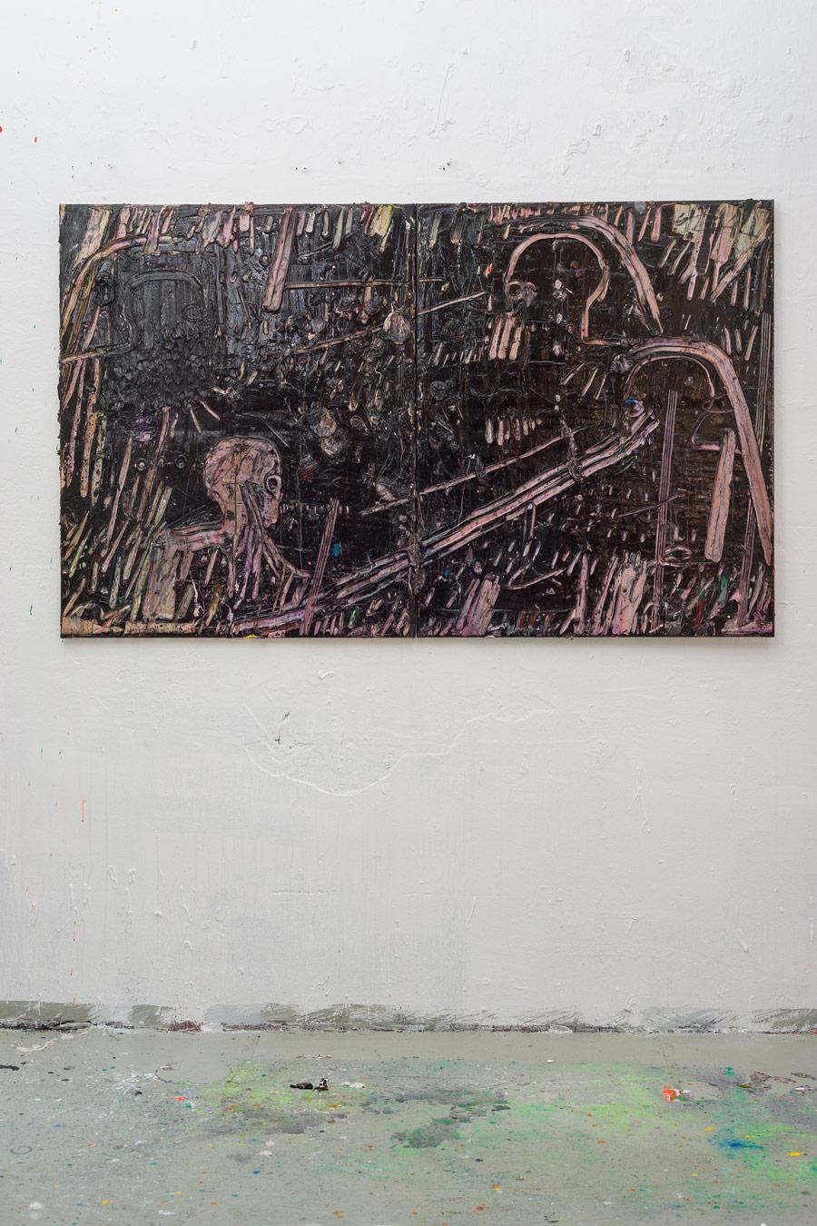Acrylic on canvas 120x220cm