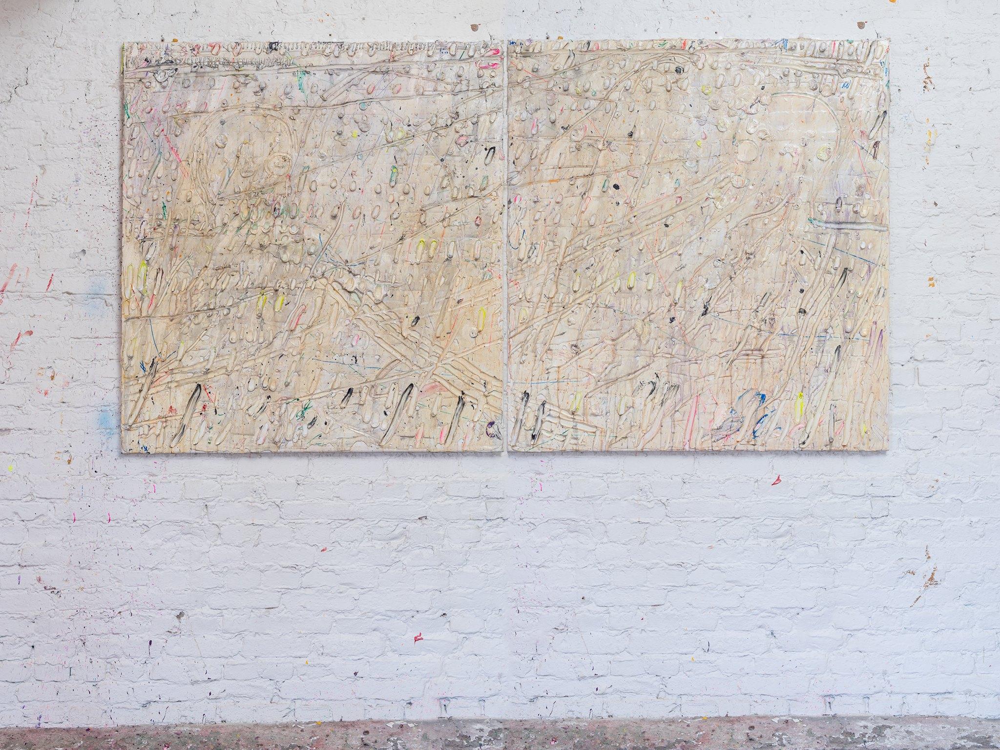 Mixed media on canvas 140x240cm