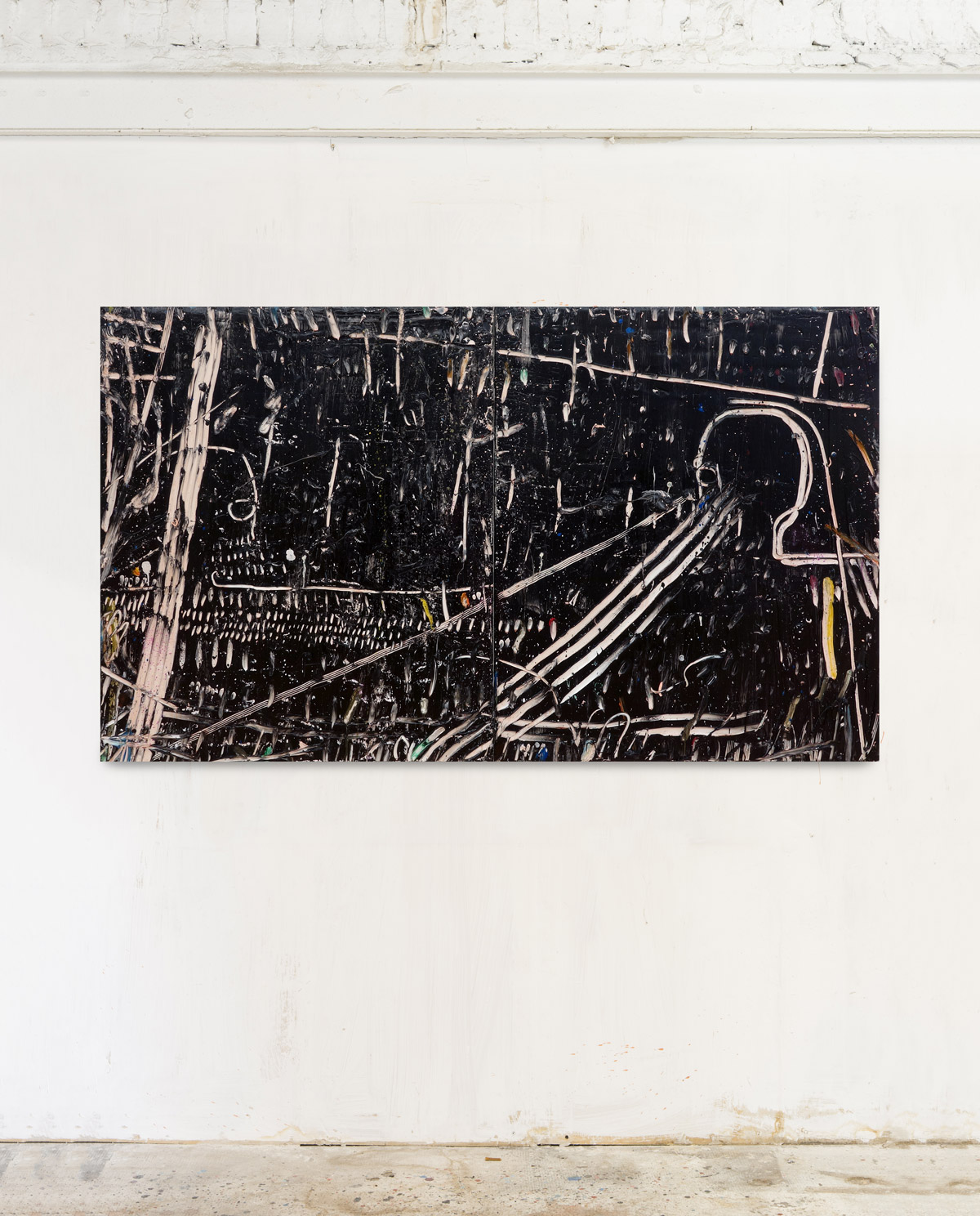 Acrylic on canvas 140x240cm