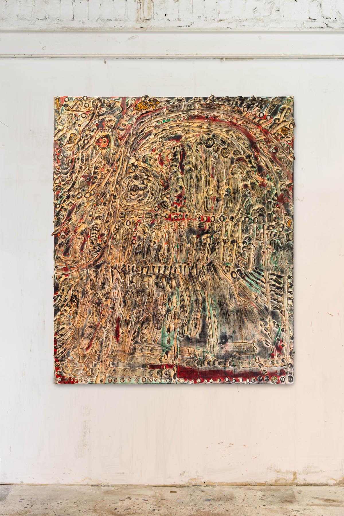Acryl and spraypaint on canvas 180x140cm