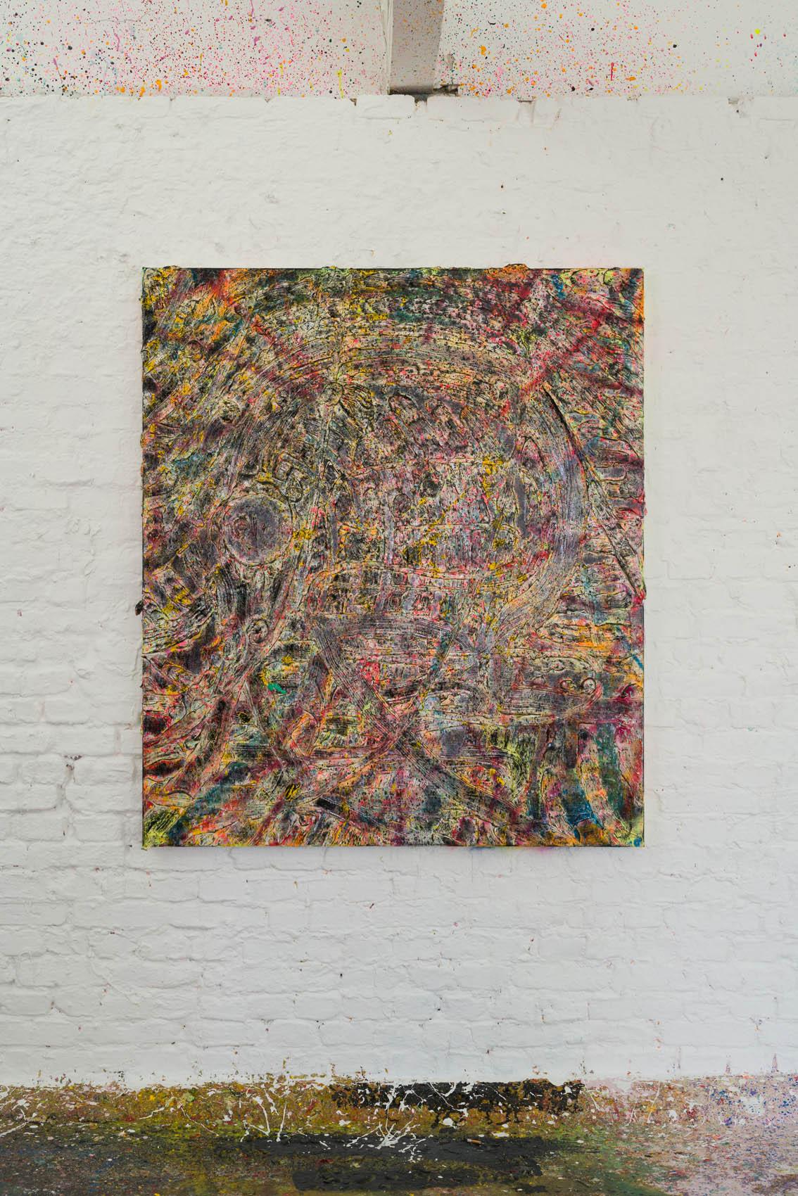 Acryl and spraypaint on canvas 150x130cm