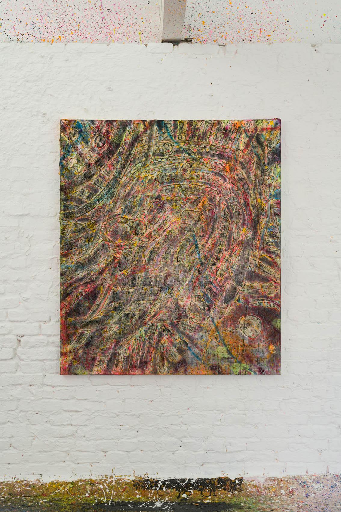 Acryl and spraypaint on canvas 160x140cm