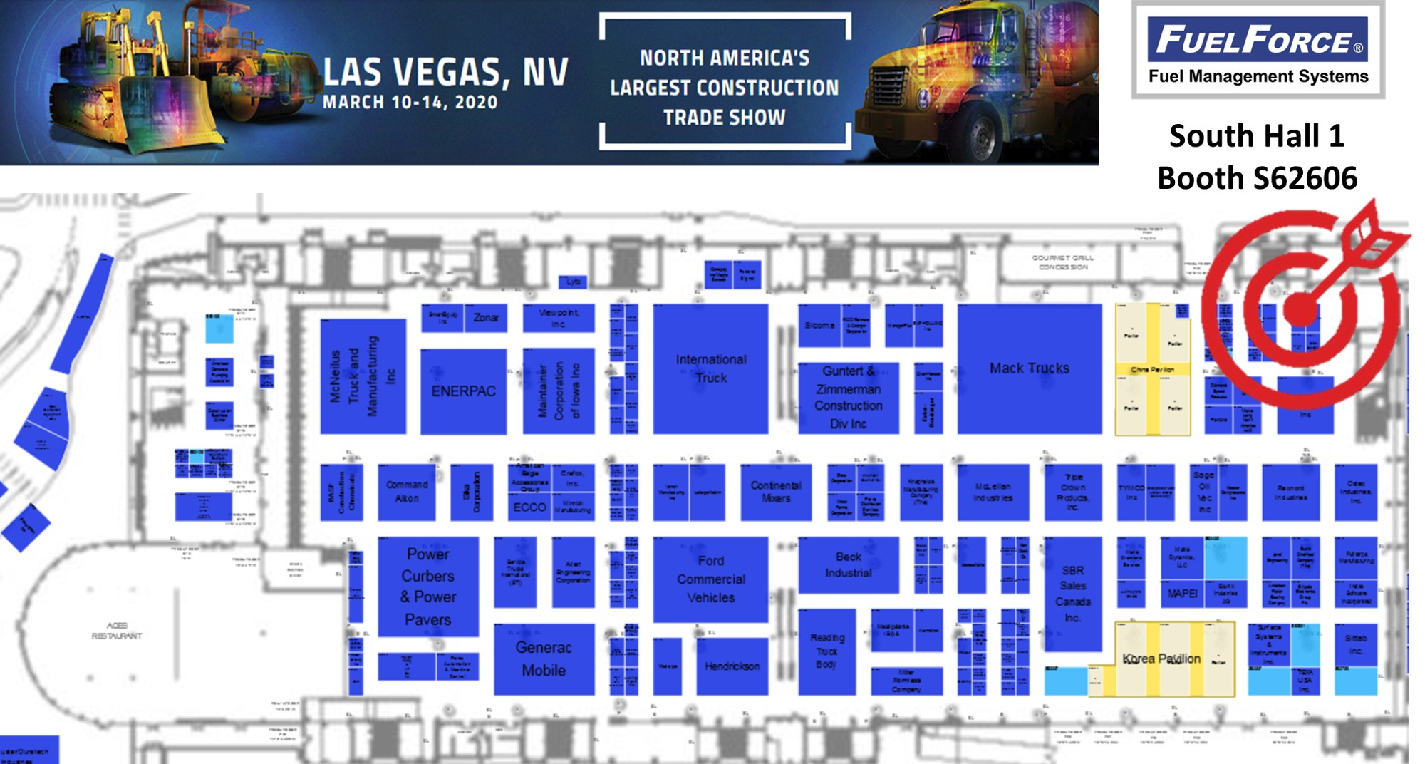 Visit Us in the South Hall 1st Floor, Booth S62606