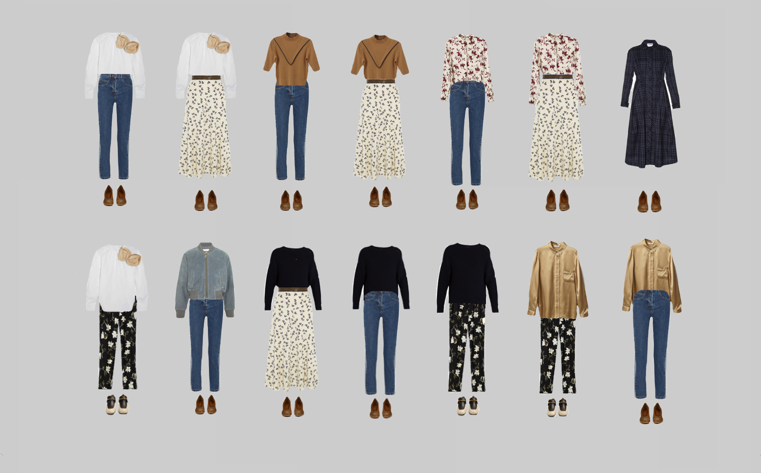 Capsule Wardrobe: 14 outfits.