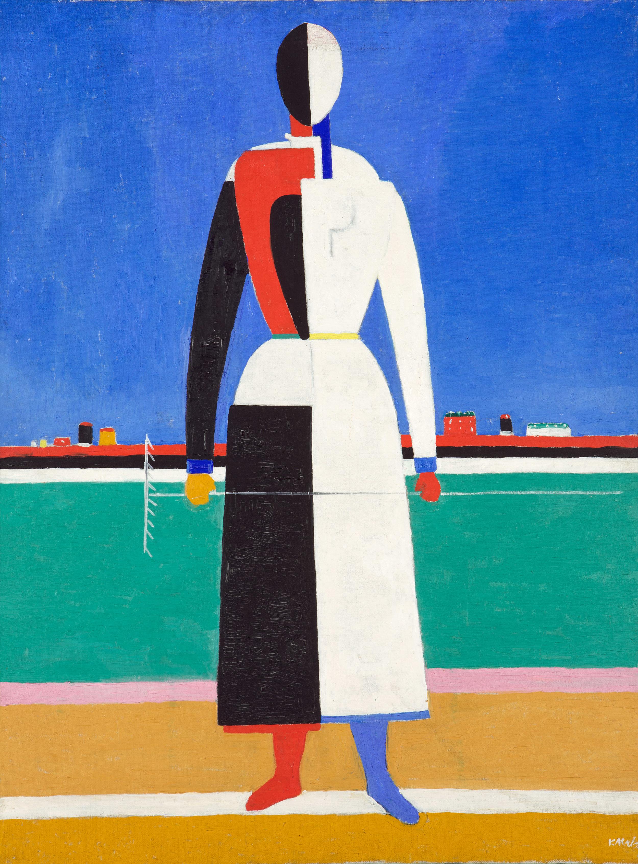 Kazimir Malevich.Woman with a rake, 1932