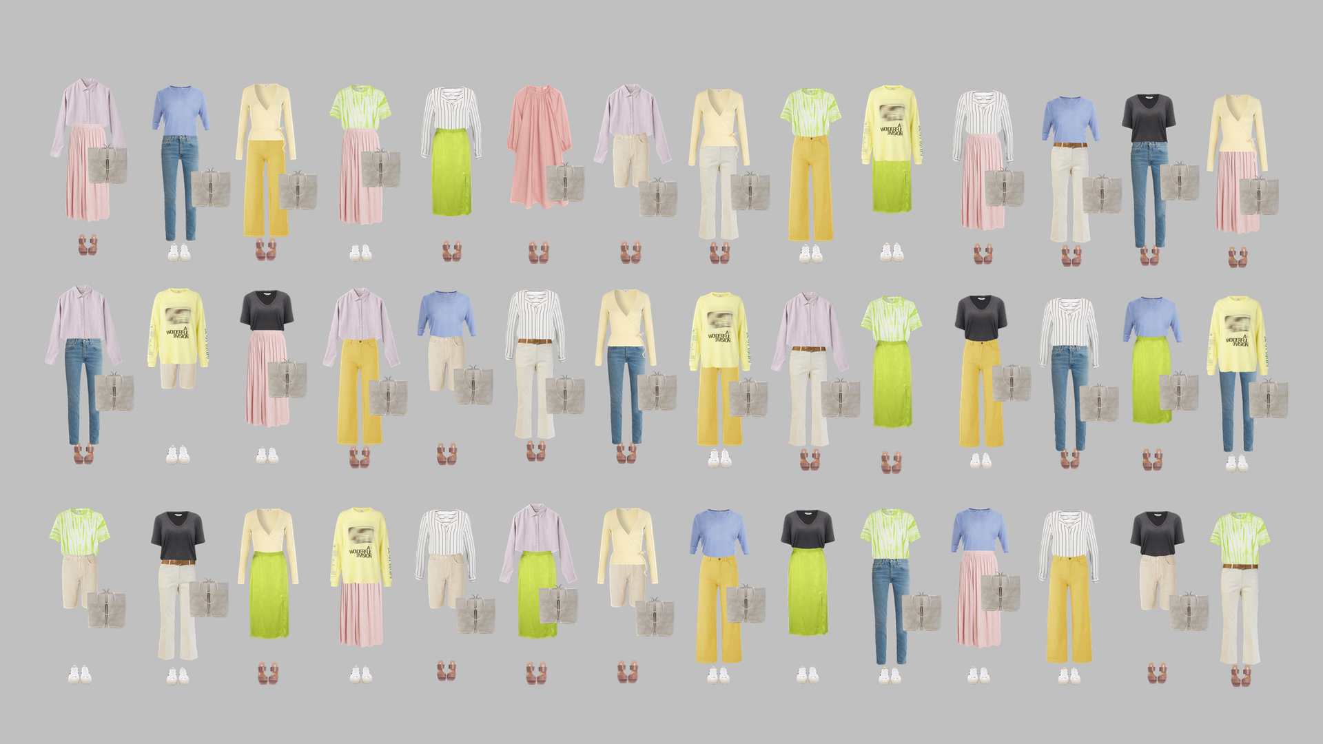 Wonder Wardrobe: 43 outfits.
