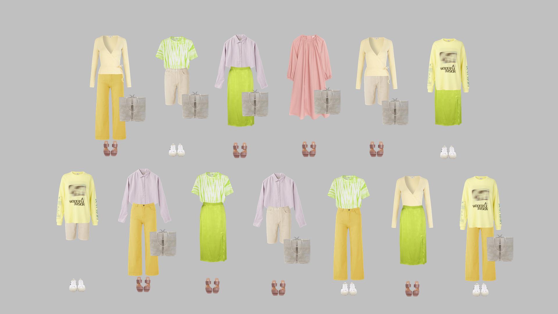 Wonder Wardrobe: 13 outfits.