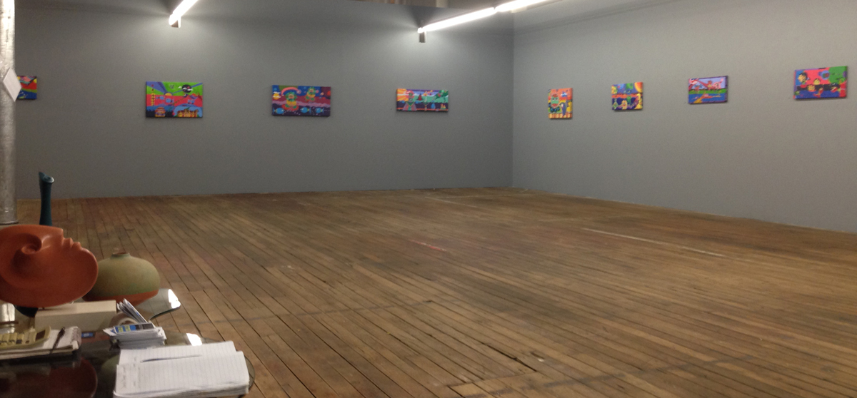 Main area of the gallery as seen from entrance.