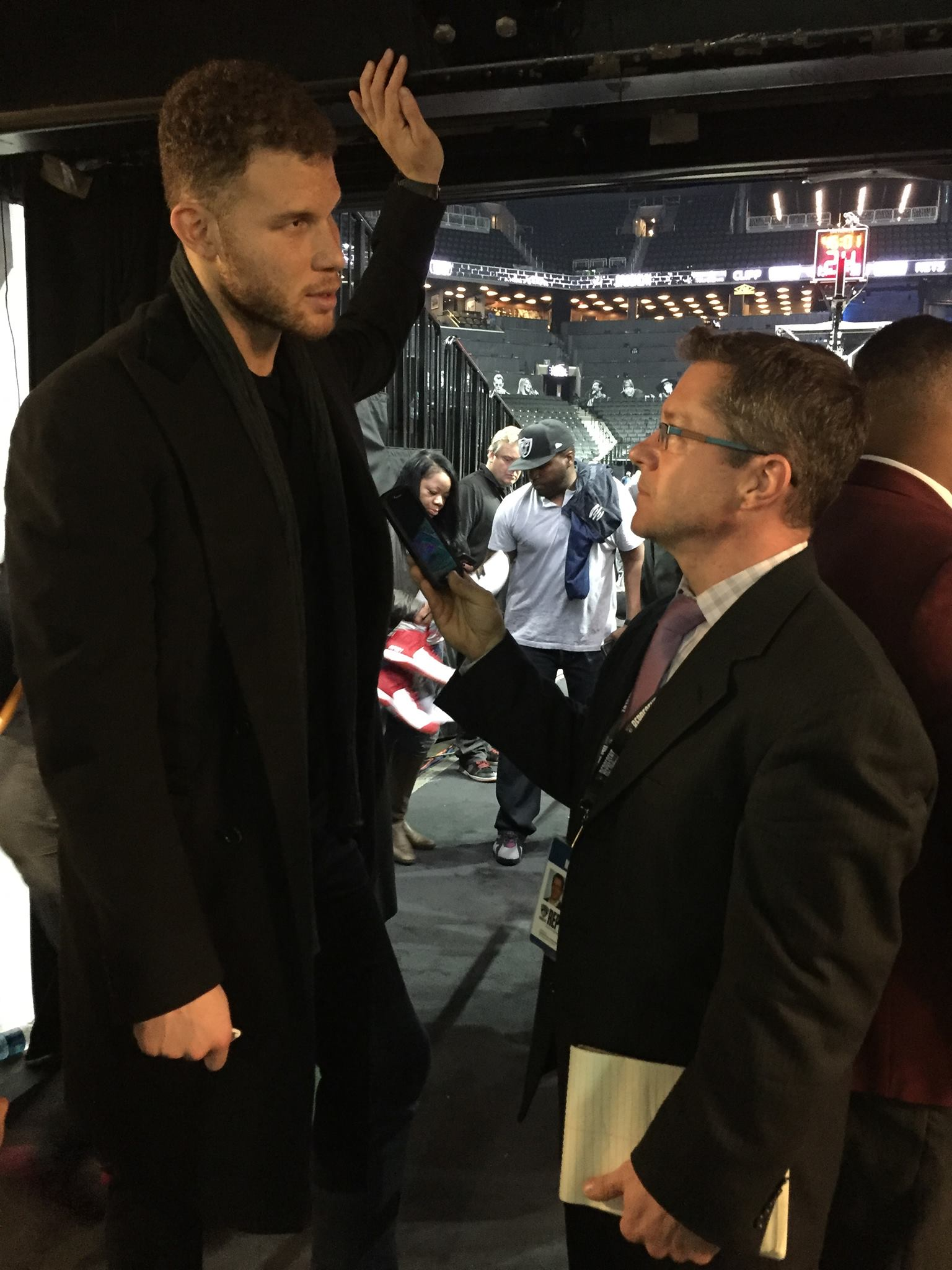 Blake Griffin chatting with Coach Ken about his training and nutrition.