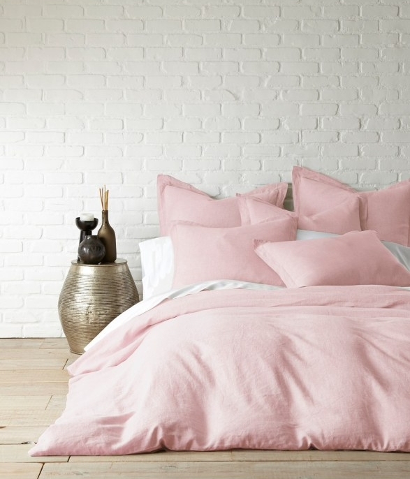 Washed Linen Duvet Cover - I've been lusting after this blush linen duvet for at least a year. Crisp and modern, I think it would make the perfect feminine foundation for any bedroom and I can totally see it layered with gray to keep the look from becoming overly girly, like with this gray knitted throw.Price: $229
