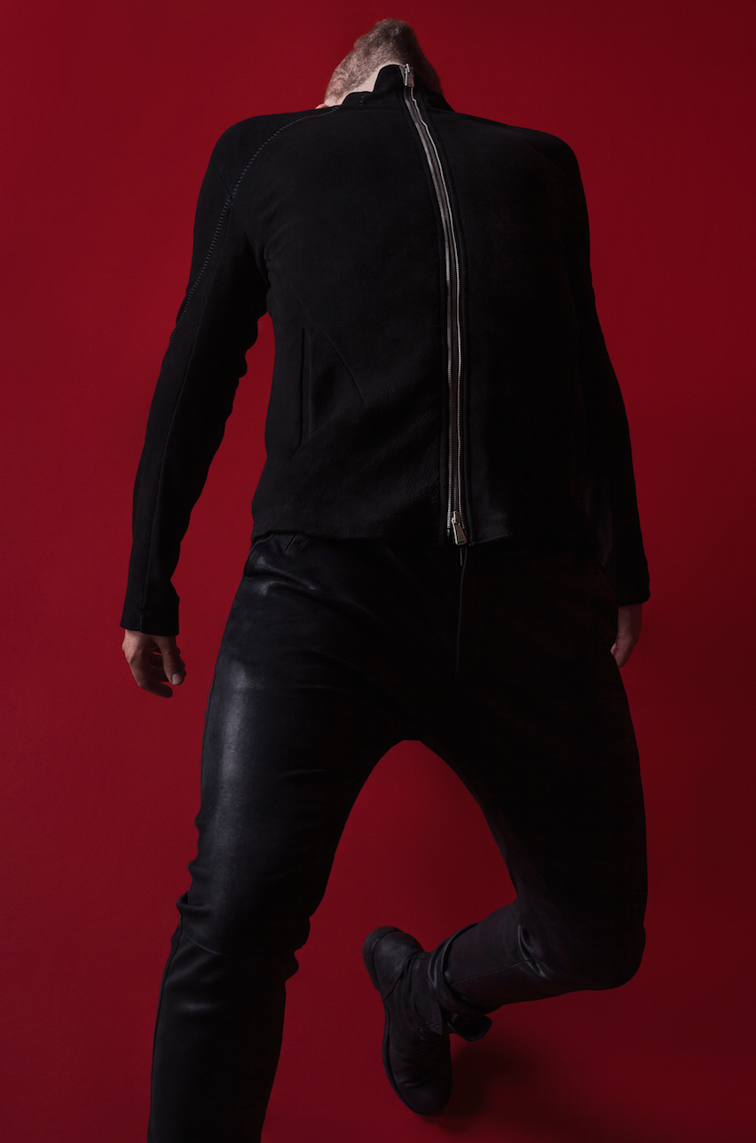 Jacket by 10Sei0Otto, Trousers Isabel Benenato, Boots by Officine Creative