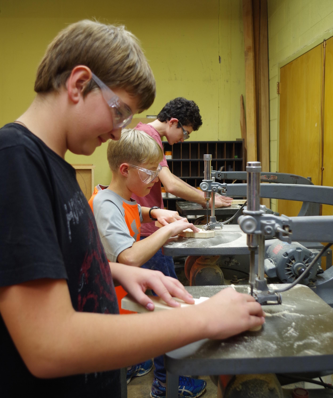 Boys participating in  Boys' & Girls' Brigade  programming