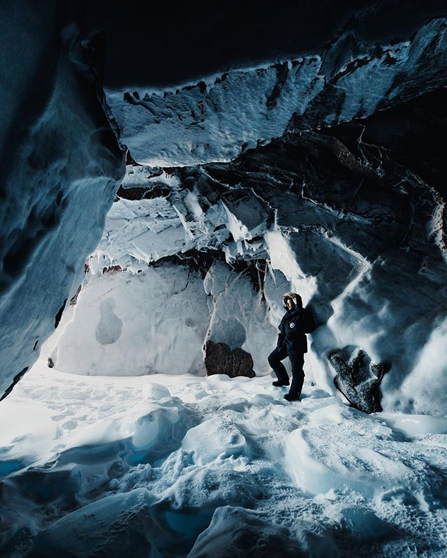Exploring ice caves with @jacob back in the great white north. Looking forward to sharing more from this experience!