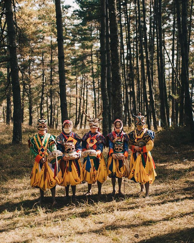 One of my favorite moments this year was seeing these guys perform their traditional dance for us in the woods in Bhutan . Truly an experience I'll never forget! I'm also bringing these dance moves into the new year, so be ready!
