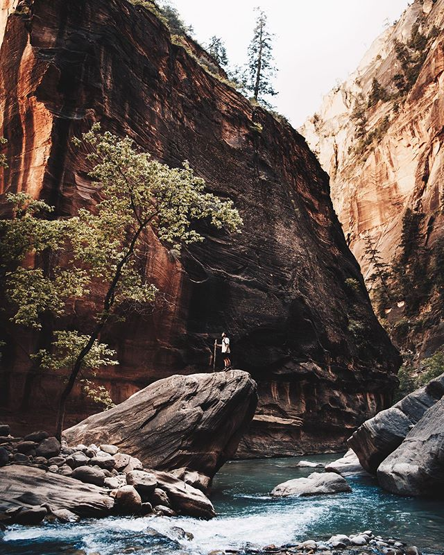 Wading through waist deep water on and off for a couple hours through this canyon was well worth it. More to come from this incredible place. @visittheusa #UnitedStories