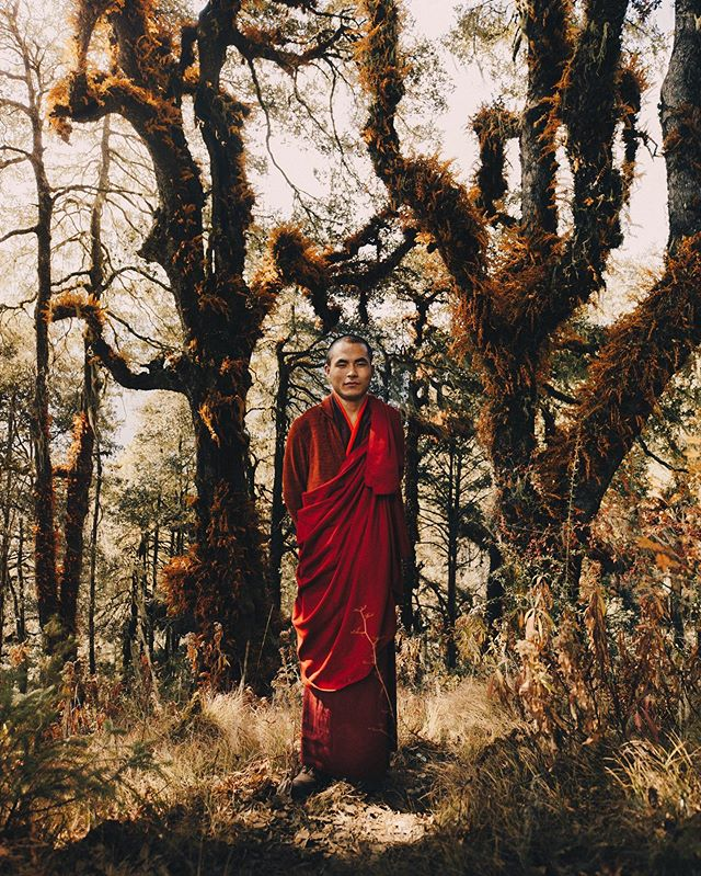The man I got to shoot here is not just a dude in a red robe, it's one of the 6 monks living in the holiest place in Bhutan, the Tiger's Nest monastery. A true spiritual experience.