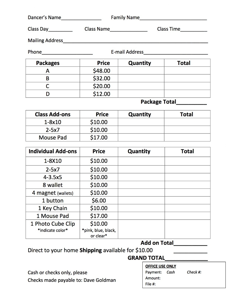 Click image above to print out order form.