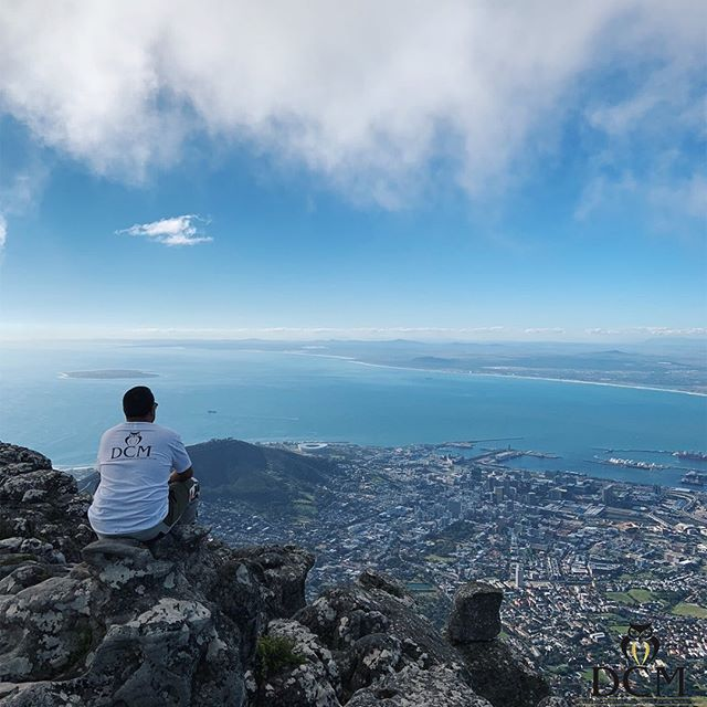 """I learned that courage was not the absence of fear, but the triumph over it. The brave man is not he who does not feel afraid, but he who conquers that fear."" -Nelson Mandela . 📍Table Mountain, Cape Town, South Africa"