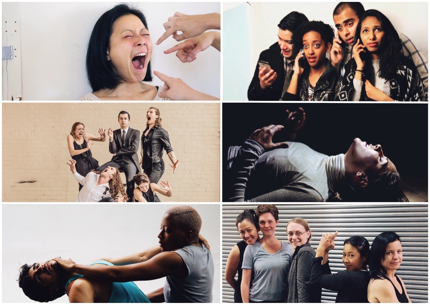 Clockwise from top left: Jen Hum in 'Little Fires'; Cast Members of 'SExT'; Kylie Thompson in 'Wireless Connection'; Cast Members of '[un]BOXED'; Mateo Galindo Torres & Jasmyn Fyffe in 'Rated R'; Cast Members of 'Exterminating Angel'