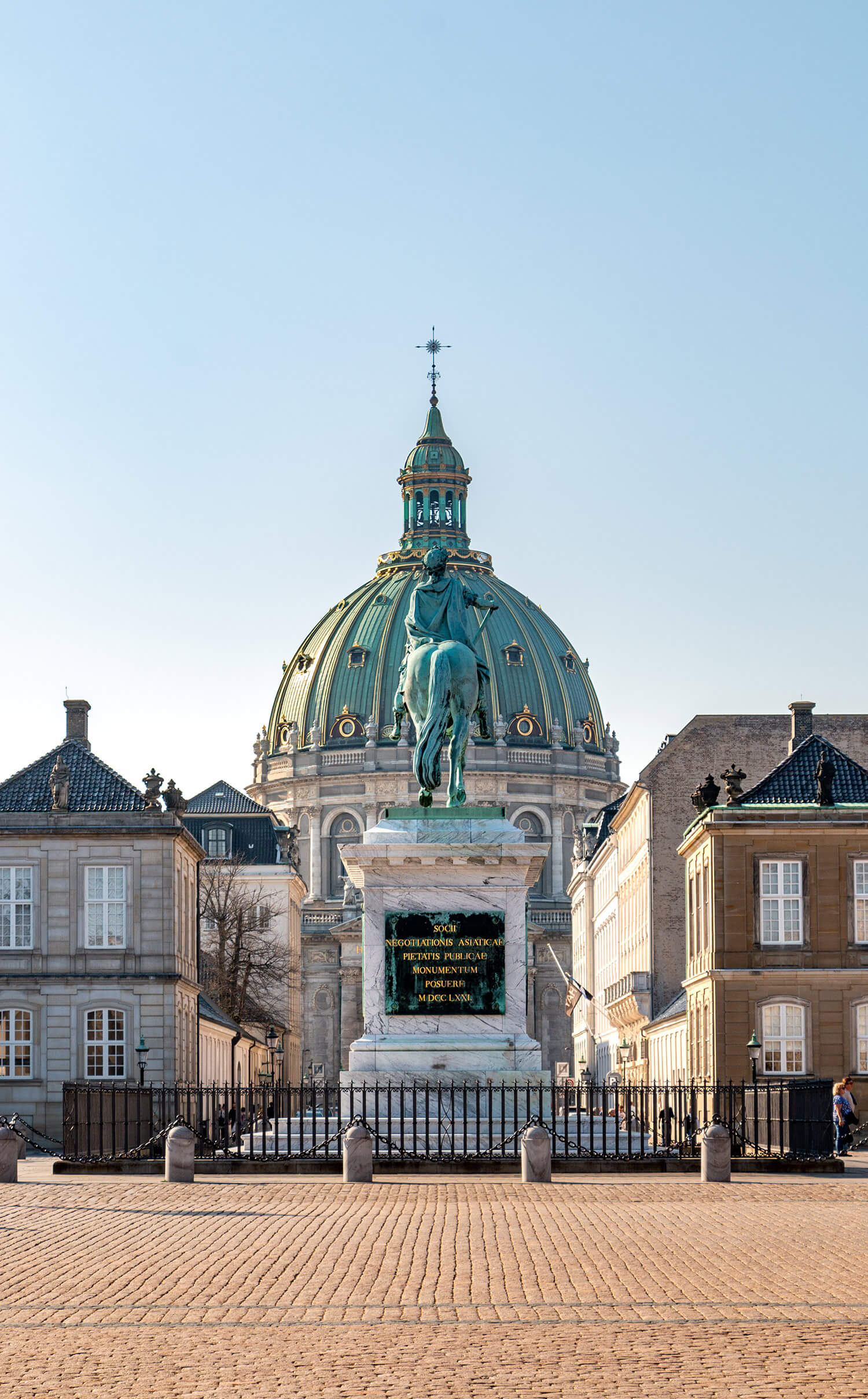 Amalienborg Palace and the Frederick's Church